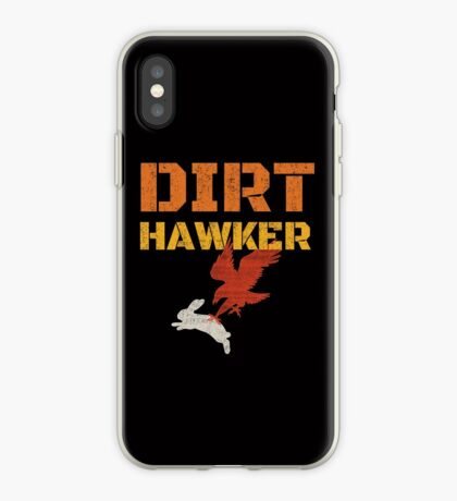 Dirt Hawker Falconry Apparel and Gifts for Falconers and Falconry families. Dirt Hawker T-shirt. iPhone Case