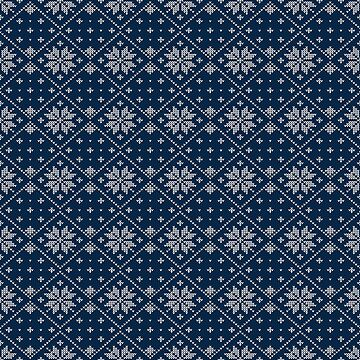 Blue Christmas Sweater Knit by heartlocked