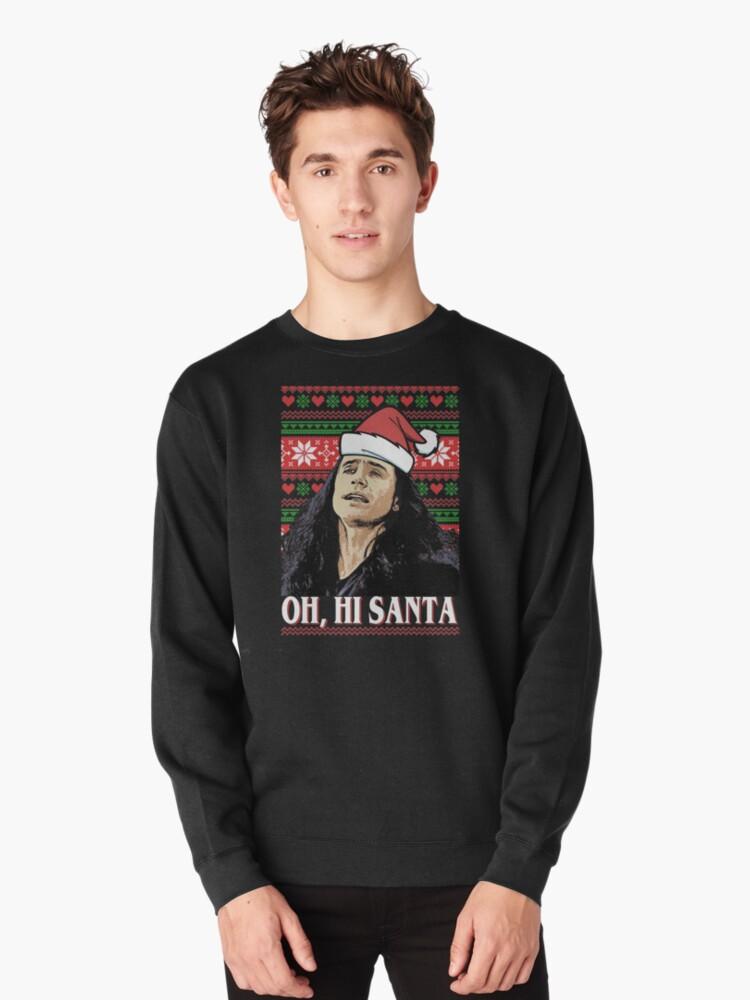 Oh Hi Santa Pullover By Attevensinder Redbubble