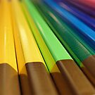 Rainbow pencils by Robin Nellist