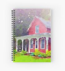 The Red Farmhouse Spiral Notebook
