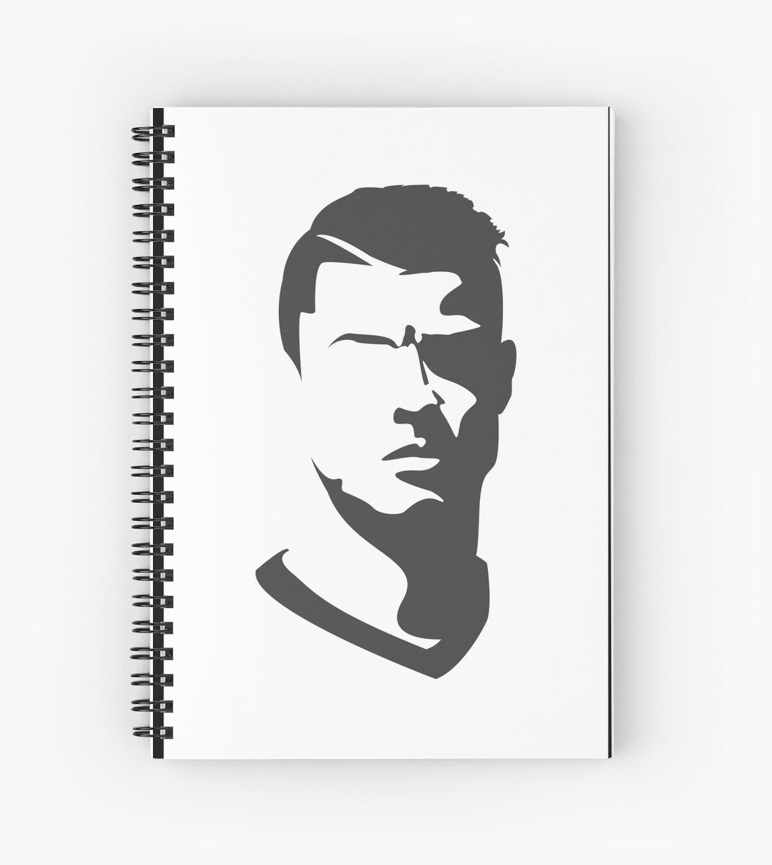 u0026quot cristiano ronaldo vector portrait u0026quot  spiral notebook by