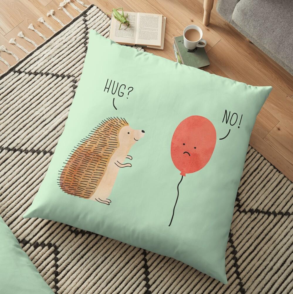 impossible love Floor Pillow