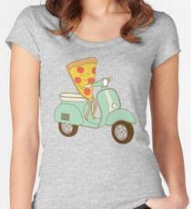 pizza delivery Women's Fitted Scoop T-Shirt