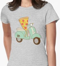 pizza delivery Women's Fitted T-Shirt