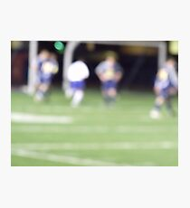 Life is a Blur #1 soccer Photographic Print