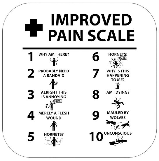 image regarding Pain Scale Chart Printable identify Much better Suffering Scale Poster through PicturePerfects