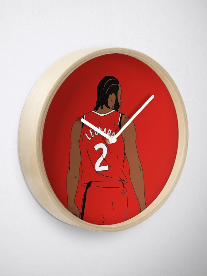 Alternate view of Kawhi Leonard Raptors Clock