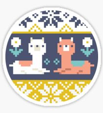 Alpaca Christmas Sweater Pattern  Sticker