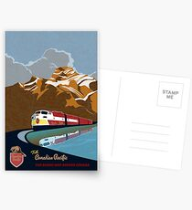Vintage CP Rail Travel Poster Postcards