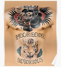 Conor McGregor Tattoos Chest and Stomach Poster
