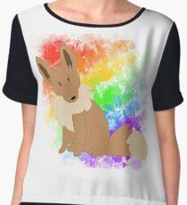Rainbow eevee Chiffon Top