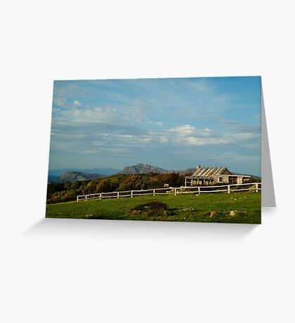 Craigs Hut, Mt Stirling Greeting Card