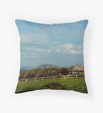 Craigs Hut, Mt Stirling Throw Pillow