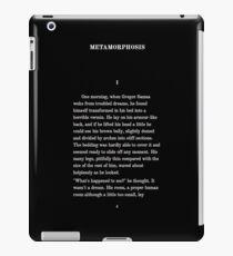 Metamorphosis Franz Kafka First Page T-Shirt iPad Case/Skin