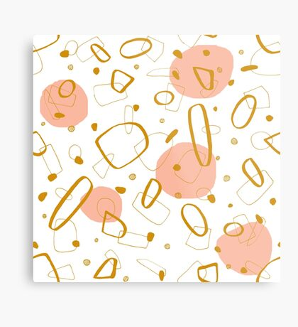 Doodle Pattern 04 #redbubble #doodle #pattern Metal Print