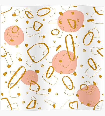 Doodle Pattern 04 #redbubble #doodle #pattern Poster