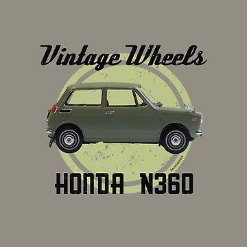 Vintage Wheels - Honda N360 by DaJellah