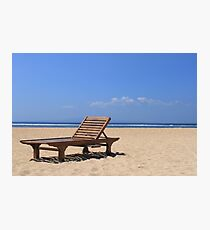 Wooden sunbed Photographic Print