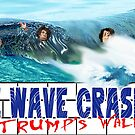 Blue Wave Crashing by ayemagine