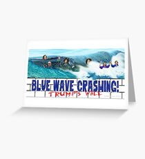 Blue Wave Crashing Greeting Card