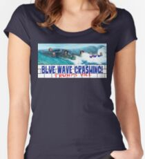 Blue Wave Crashing Women's Fitted Scoop T-Shirt