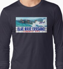 Blue Wave Crashing Long Sleeve T-Shirt
