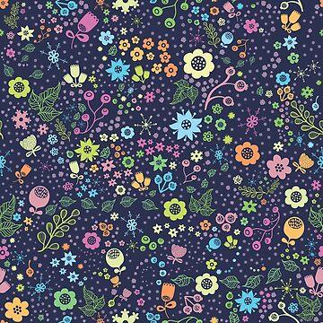 Cool floral print. Cute flowers by dasha-d