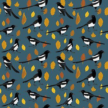Autumn Magpie Pattern by studionaika