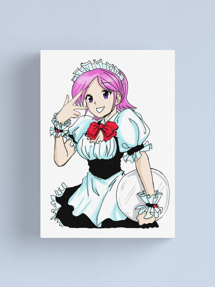 Alternate view of Maid Cafe Pink Hair Canvas Print
