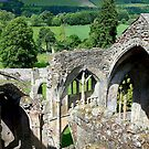 Aerial View, Melrose Abbey by mcworldent
