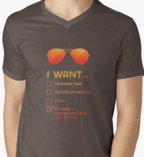 I want to... make a supersonic man outta you Men's V-Neck T-Shirt
