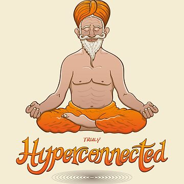 Truly hyperconnected Indian guru in meditation by Zoo-co