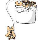 Niedliche Pocket Pugs von Beka Designs