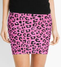Pink Cheetah Skin Print Mini Skirt
