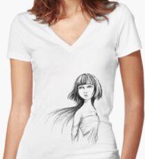 Summer Spring Women's Fitted V-Neck T-Shirt