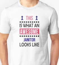 038af4d64 Janitor Awesome Looks Birthday Christmas Funny Slim Fit T-Shirt