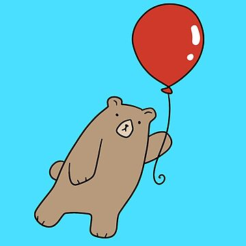 Red Balloon Grizzly Bear by SaradaBoru
