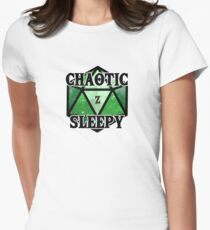 d20 - Chaotic Sleepy Women's Fitted T-Shirt