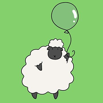 Green Balloon Sheep by SaradaBoru