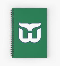 Hartford Whalers Hockey Retro Spiral Notebook