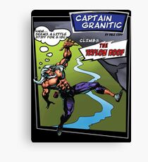 Capt Granitic Comic Panel 02 Canvas Print
