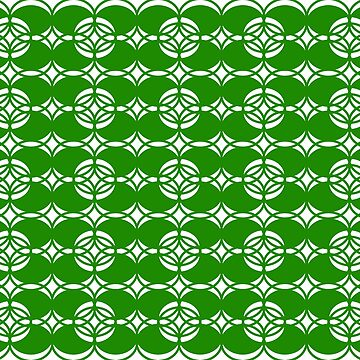 Abstract pattern - green and white. by kerens