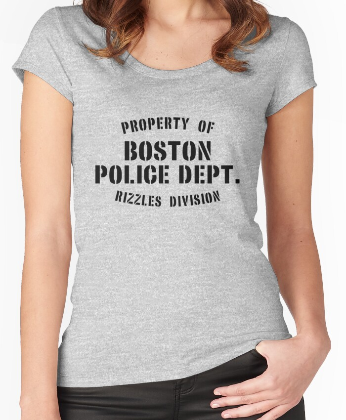 Property of Boston Police Dept. Rizzles Div. Women's Fitted Scoop T-Shirt