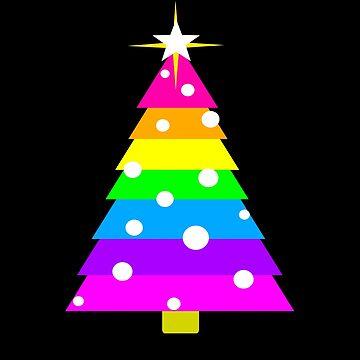 Rainbow Christmas Fir Tree, Star, Shine Bright Little Star by LouisianaLady