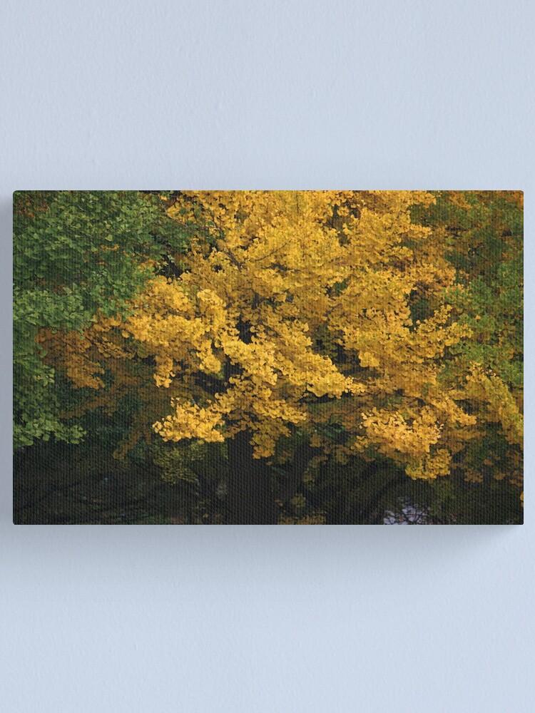 Alternate view of golden tree Canvas Print