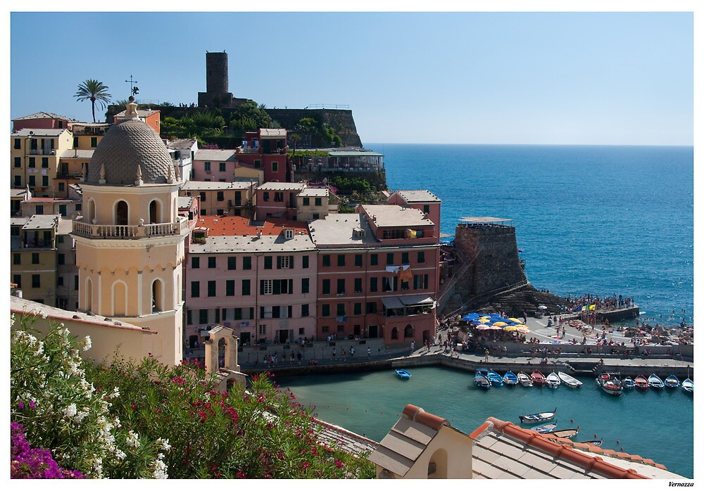 Postard from Vernazza by Paul Weston