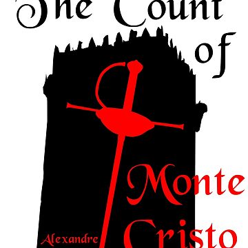 The Count of Monte Cristo T-shirt Alexandre Dumas by Vidallz