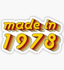Made in 1978 (Yellow&Red) Sticker