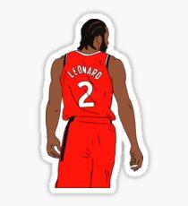 Kawhi Leonard Raptors Sticker
